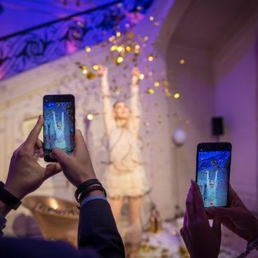 De internationale lancering van de nieuwe Huawei P20 in Parijs