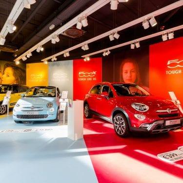 In slechts 10 dagen van ontwerp naar de opening van een Fiat 500 Pop-Up Store